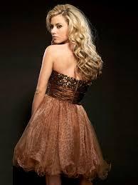 glamorous short strapless leopard print mini dress at your next