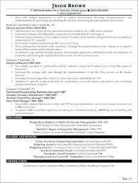 Resume Format For Hospitality Industry Sample Examples Tourism