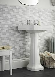 chic grey shades brick mosaic tile bathroom bricks