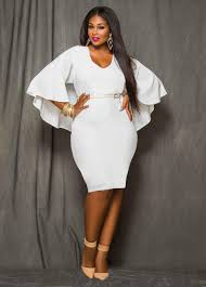 white dress plus size party