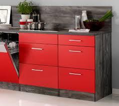 küchenzeile sevilla küche mit e geräten breite 280 cm 15 teilig rot samtmatt eiche vintage