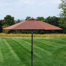 Patio Umbrella Base Menards by Backyard Creations Yukon Patio Market Umbrella At Menards
