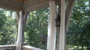 Patio Curtains Outdoor Plastic by How To Make Outdoor Drapery Panels Youtube