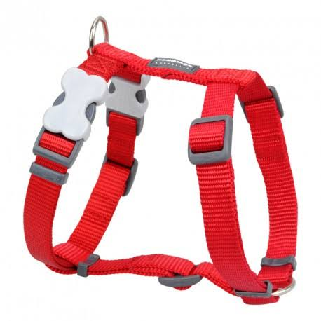 Red Dingo Plain Dog Harness - Medium, Red