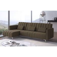 sofa liege 267cm umbaubar in bett umkehrbar braun gestreift