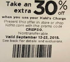 30% Off Starts September 13th -23rd If... - 30% Off Kohls ...