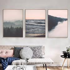 rosa und weiß abstrakte nordische poster leinwand wand