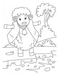 King Of Woolens The Sheep Coloring Pages