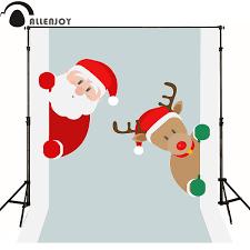 US 903 35 OFFAllenjoy Photography Backdrops Merry Christmas Ornaments Santa Claus Reindeer Vectors Newborn Baby Shower Photocall Vinyl Fabricin