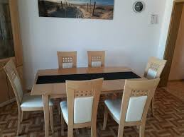 esszimmer tisch 6 stühle eckvitrine esche massiv