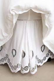 Antrhopologie Eyelet Embroidered Bedskirt anthrofave
