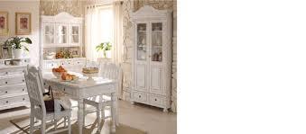 landhausstil esszimmer in weiß massiv aus holz