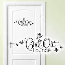 grandora wandtattoo chill out lounge i schwarz bxh 28 x 12 cm i türaufkleber schlafzimmer kinderzimmer sticker aufkleber wandaufkleber wandsticker