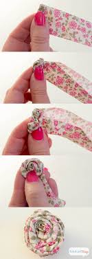 Step By Instructions For Making Rolled Fabric Flowers From Atta Girl Says