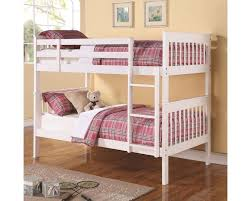 Coaster Bunks Twin Over Twin Bunk Bed in White CO