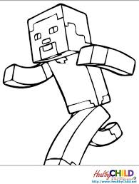 Coloring Pages Minecraft Steve 2091037