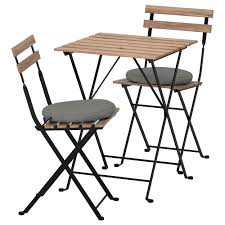 TÄRNÖ - Table+2 Chairs, Outdoor, Black Acacia, Steel Grey-brown Stained Jack Daniels Whiskey Barrel Table With 4 Stave Chairs And Metal Footrest Ask For Freight Quote Goplus 5 Pcs Black Ding Room Set Modern Wooden Steel Frame Home Kitchen Fniture Hw54791 30 Round Silver Inoutdoor Cafe 0075modern White High Gloss 2 Outdoor Table Chairs Metal Cafe Two Stock Photo 70199 Alamy Stainless 6 Arctic I Crosley Kaplan 4piece Patio Seating Oatmeal Cushion Loveseat 2chairs Coffee Rustic And Pieces Glass Tabletop Diy Patterns Pads Brown Tufted Target Grey