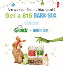 Get The Grinch BarkBox For Just $15 - $14 Off Coupon! - Hello ... Receive A 95 Discount By Using Your Bfs Id Promotion Imuponcode Shares Toonly Coupon Code 49 Off New Limited Use Coupons And Price Display Cluding Taxes Singlesswag Save 30 First Box Savvy Birchbox Free Limited Edition A Toast To The Host With Annual Subscription Calamo 10 Off Aristocrat Homewares Over The Door Emotion Evoke 20 Promo Deal Coupon Code Papa John Fabfitfun Fall 2016 Junky Codes For Store Online Ultimate Crossfit Black Friday Cyber Monday Shopping