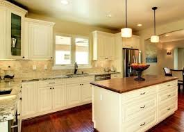 Cream Kitchen Cabinets French Vanilla Glaze Black Granite Countertops