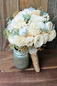 Sola Bouquet Wedding Bouquet Rustic Wedding Bridal Bouquet