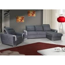 fauteuil canape meublesline ensemble canapé d angle fauteuil berna gris 155cm x