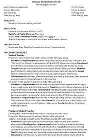 Child Caregiver Resume Sample Care Experience