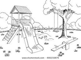 Playground Clipart Outline Free Collection