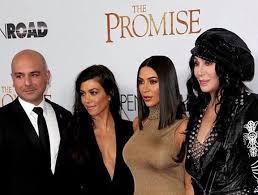 The Promise Producer Eric Esrailian With Kourtney And Kim Kardashian Cher