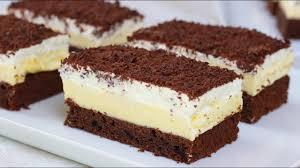 cremige puddingschnitten i schoko vanille schnitten