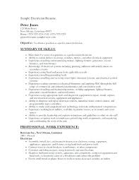 Kitchen Helper Resume Template Electrician Example Sample Resumes Objective Electrical Engineer