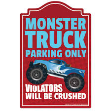100 Funny Truck Pics Monster Parking Novelty Sign Home Dcor Garage Wall