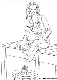 Coloring Page Php Fabulous Barbie Book