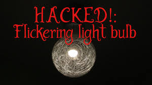 hacked flickering light bulb for