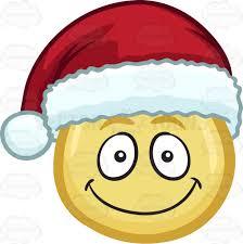 A Smiling Emoji Wearing Santa Hat