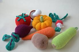 Crochet Knit Vegetables Kitchen Decor Christmas GiftPlay FoodCrochet FoodSoft ToysHandmade Toy Eco FriendlyLearning Set Of 8 Pcs