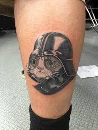 Tattoo Of Grumpy Cat As Darth Vader