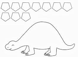 Twanneke Dinosaur Shapes Pentagon