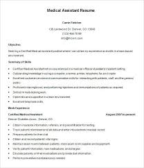 Medical Assistant Example Resume Templates Examples 2016