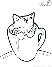 Kitten Colouring In Stunning Coloring Pages To Print