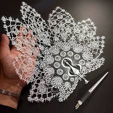 Japanese Artist Hand Cuts Insanely Detailed Paper Art