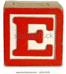 graph Wooden Block Letter E Stock Shutterstock