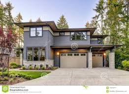 100 Contemporary House Siding New Construction Home With Wood And Stone Stock Image Image
