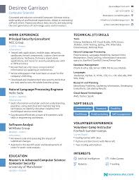 Computer Science Resume Example 2018