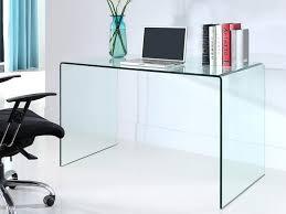 bureau elstron verre trempé 12mm transparent 120 cm