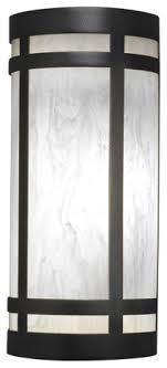 classics wall sconce iron finish with white swirl acrylic