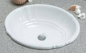 self rimming drop in bathroom sinks by barclay