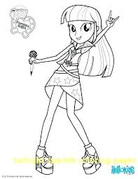 Equestria Girls Coloring Pages My Little Pony Twilight Sparkle With For Kids Disney