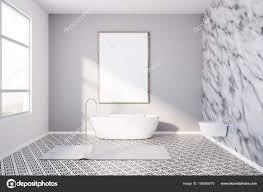 100 Marble Walls Modern Bathroom Marble Walls And Poster Stock Photo