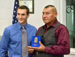 bia bureau of indian affairs lt honored as bia retires his badge