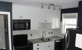 picture 8 of 35 gray subway tile kitchen black granite